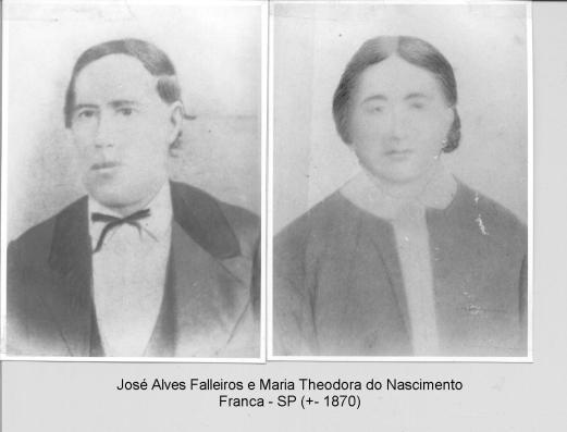 José Alves Falleiros e Maria Theodora dognto
