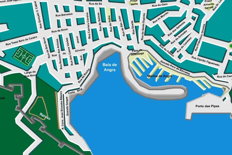 mapa da praia da vitoria Famílias da Ilha Terceira mapa da praia da vitoria