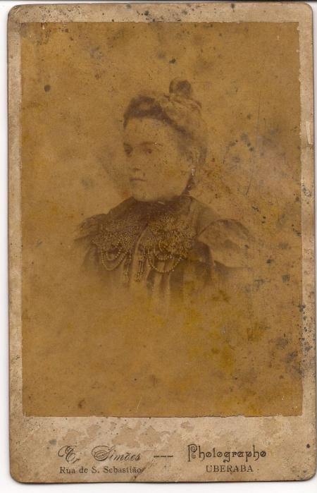 Eulina, na época de seu casamento, em 1902