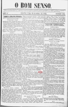O Bom Senso, MG, 1855, ed. 305 -1, p. 1 de 4 - Rita Manoela